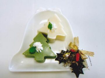 抹茶の豆乳羹でメリークリスマス