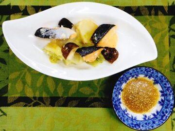 サケと野菜の蒸し煮