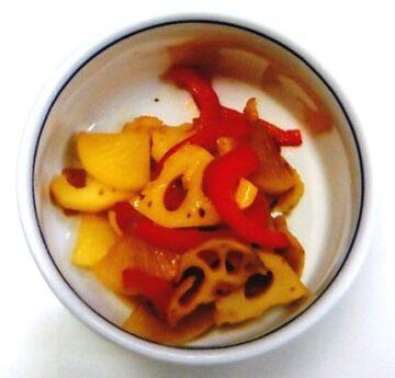 根菜の黒酢炒め
