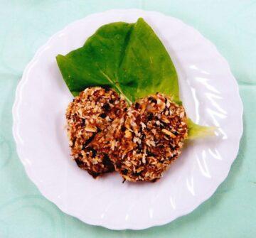 里芋とひじきの焼きコロッケ